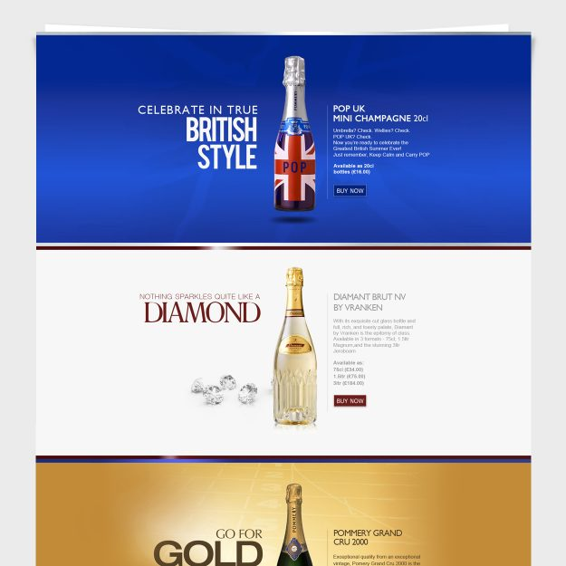 Pommery Champagne: UI / UX