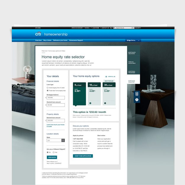CITI Bank: UI