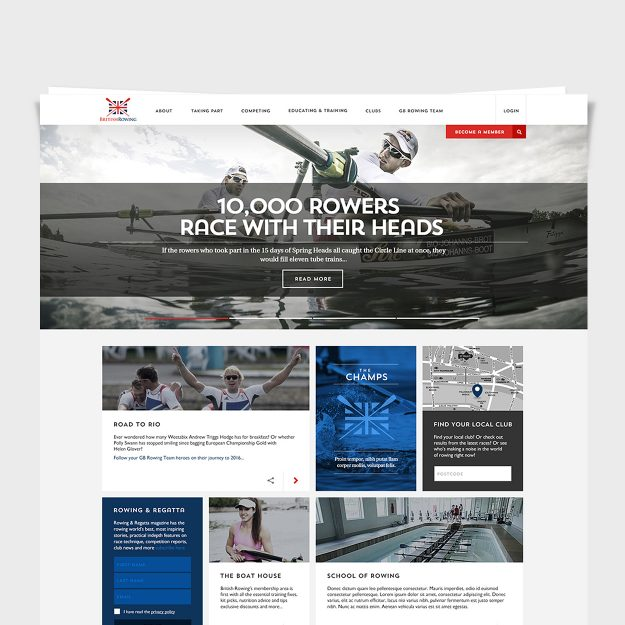 Great Britain Rowing Team: UI / UX