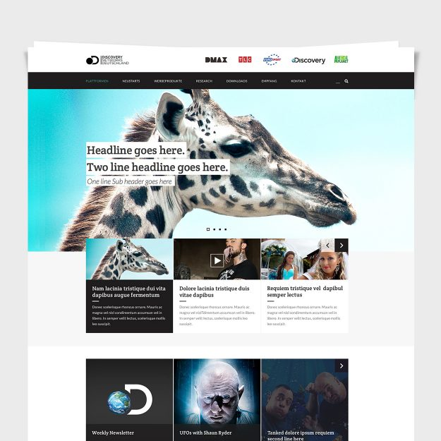 The Discovery Channel: UI / UX